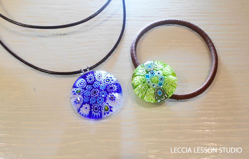 manamana さん、 Aketaka さん ガラスフュージング体験作品 ヴェネチアンガラス