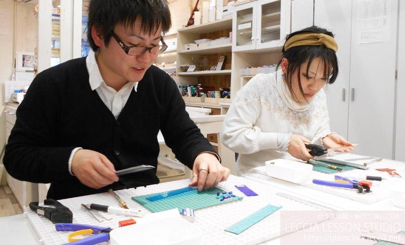 ガラスフュージング作品 箸置き ガラス体験・制作工房LECCIA【愛知・名古屋】