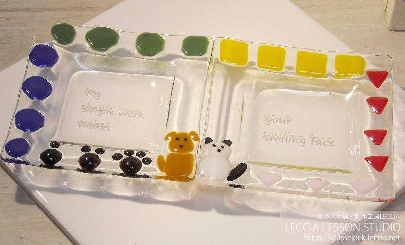 ガラスフュージングで作るミニお皿制作体験コース。ガラス工房LECCIAレチア