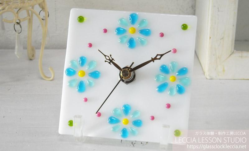 ガラスフュージング作品ガラス時計3 ガラス体験・制作工房レチア【愛知・名古屋】