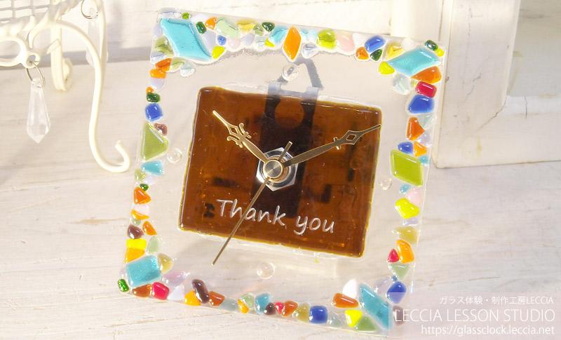 ガラスフュージング作品ガラス時計4 ガラス体験・制作工房レチア【愛知・名古屋】