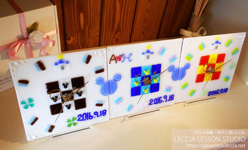 手作りギフト・プレゼント ガラス時計2 ガラス工房レチア
