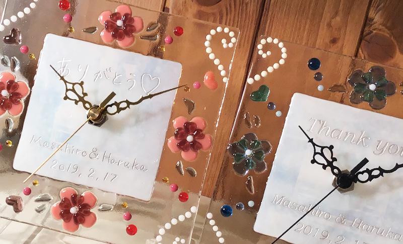 結婚式での手作り両親贈呈ギフト ガラス体験工房レチア