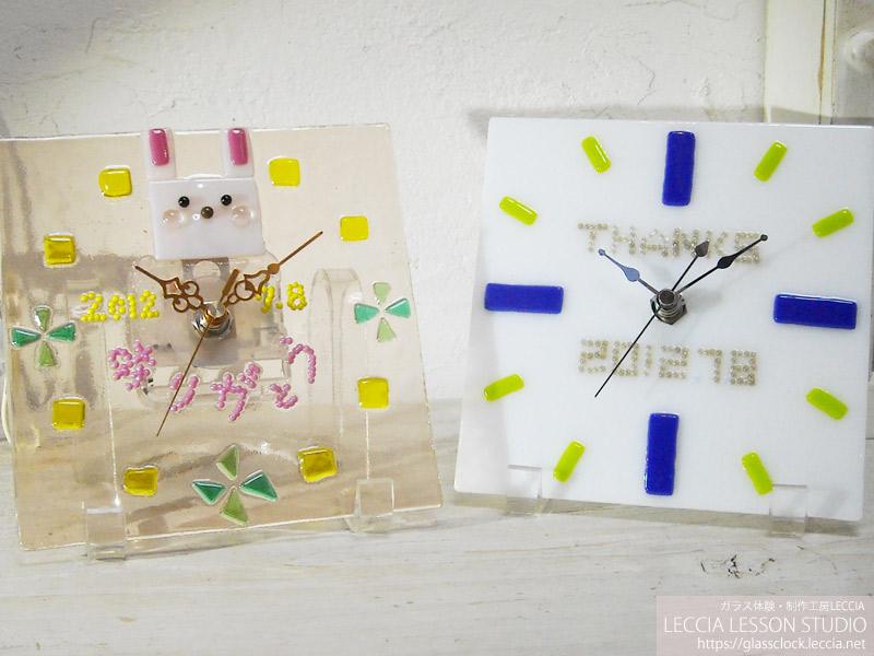 結婚式の手作り両親贈呈ギフト ガラス時計LECCIA