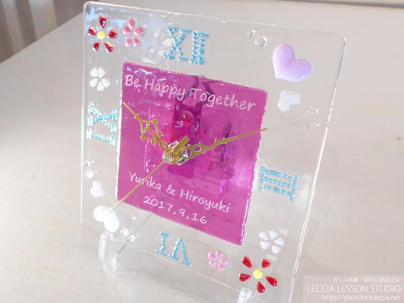 手作りガラスの両親贈呈ギフト・結婚式での新郎新婦サプライズプレゼント LECCIA