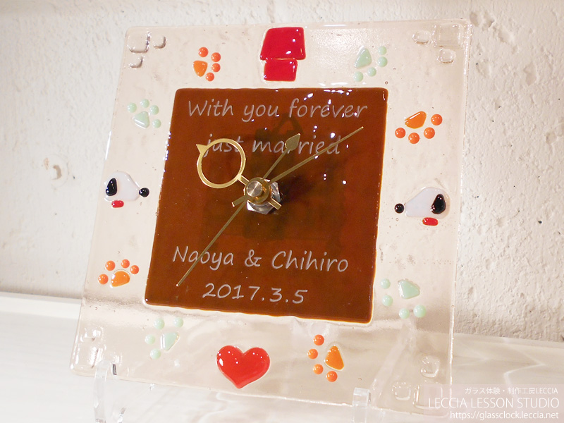 結婚式での新郎新婦サプライズプレゼント ガラス体験工房レチア