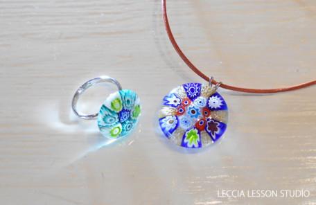 314 さん ガラスフュージング体験作品 ヴェネチアンガラス