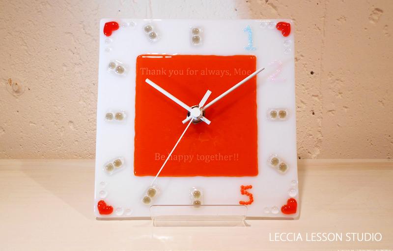 ハッサン さん ギフトコース作品 ガラス時計
