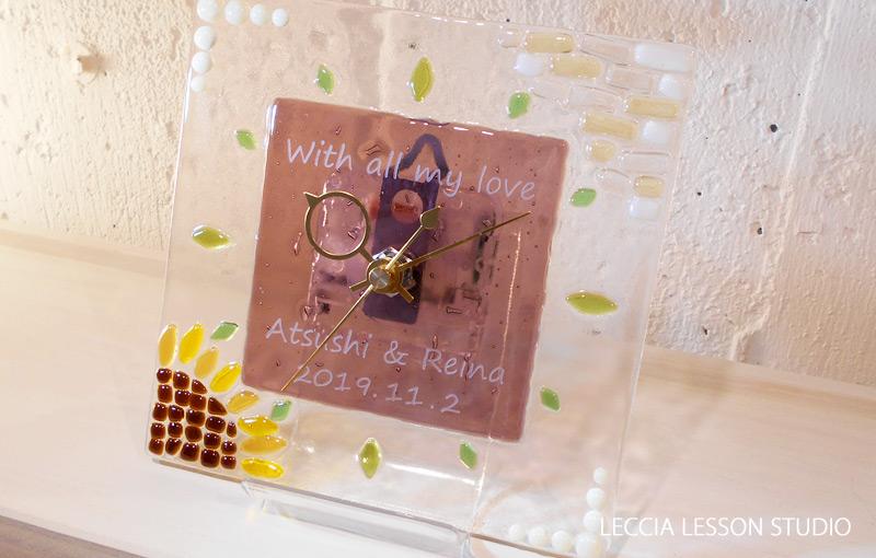 AR さん ギフトコース作品 ガラス時計