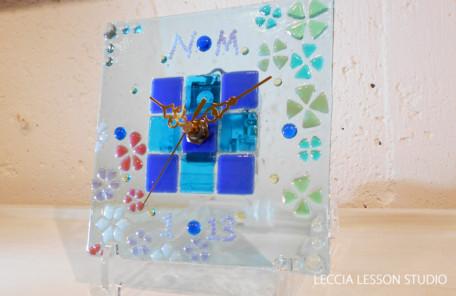 N.M さん ギフトコース作品 ガラス時計