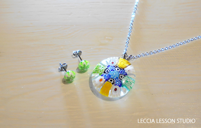ともこ さん、 あっこ さん、じゅんこ さん ガラスフュージング体験作品 ヴェネチアンガラス