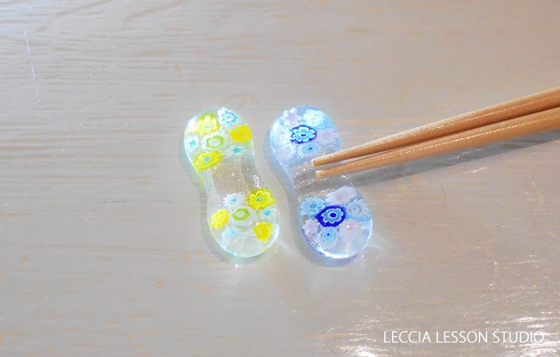 さわ さん、 ヤマト さん、バナナ さん ガラスフュージング体験作品 ヴェネチアンガラス