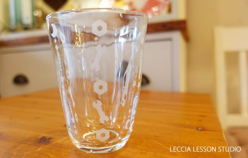 毬 さん、 白石よもぎ@Polaris さん オリジナルグラス制作コース作品 サンドブラスト