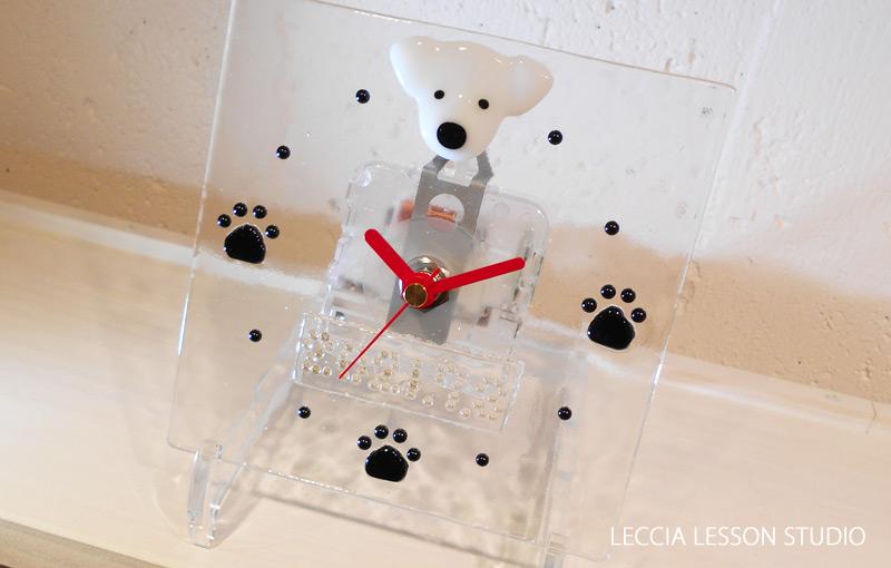 みゅー さん、 Roaさん1日体験作品【ねこ時計・犬顔オーダー】